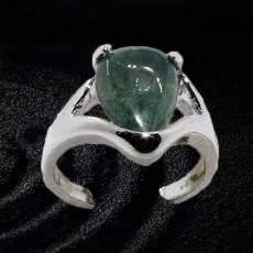 แหวนเงินจัสเปอร์คริสตัล นำโชคประดับหญิงและชาย size 8 Silver Jasper Crystal Ring นำเข้า - พร้อมส่งW802 ราคา450บาท