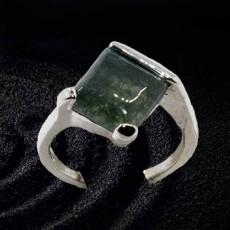 แหวนเงินจัสเปอร์คริสตัล นำโชคประดับหญิงและชาย size 8 Silver Jasper Crystal Ring นำเข้า - พร้อมส่งW803 ราคา450บาท