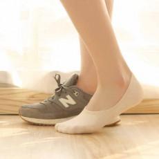 ถุงเท้าข้อสั้น  มียางกันลื่นหลังส้นชายหญิงใส่ได้กับรองเท้าแฟชั่นทุกสไตล์ นำเข้า ฟรีไซส์ สีครีม - พร้อมส่งW808 ราคา49บาท
