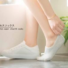 ถุงเท้าข้อสั้น  มียางกันลื่นหลังส้นชายหญิงใส่ได้กับรองเท้าแฟชั่นทุกสไตล์ นำเข้า ฟรีไซส์ สีเทา - พร้อมส่งW808 ราคา49บาท