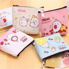 กระเป๋าสตางค์ใส่เหรียญใบเล็ก แฟชั่นเกาหลีลายการ์ตูนกันน้ำน่ารัก นำเข้า มีหลายสี - พร้อมส่งW839 ราคา65บาท