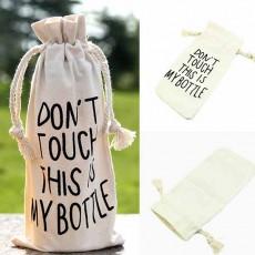 ถุงผ้าใส่ขวดน้ำ แฟชั่นเกาหลีพิมพ์ลายสำหรับไปเที่ยวและออกกำลังกายฟิตเนสโยคะ นำเข้า - พร้อมส่งW840 ราคา59บาท
