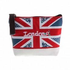 กระเป๋าสตางค์ใส่เหรียญใบเล็ก แฟชั่นเกาหลีแบบผ้าลายธงชาติอังกฤษ นำเข้า - พร้อมส่งW884 ราคา65บาท