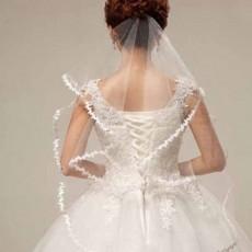 ผ้าคลุมผมเจ้าสาว เวลเจ้าสาว Bridal Veil ผ้าคลุผมเจ้าสาวแบบเรียบหรู สีขาว - พร้อมส่งW886 ราคา250บาท
