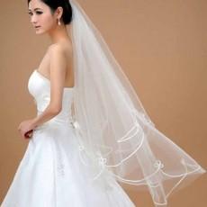 ผ้าคลุมผมเจ้าสาว เวลเจ้าสาว Bridal Veil ผ้าคลุผมเจ้าสาวแบบเรียบหรู สีขาว - พร้อมส่งW888 ราคา250บาท