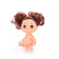 ตุ๊กตาผู้หญิง3นิ้ว น่ารักไซส์มินิสำหรับเป็นของขวัญและใช้ตกแต่งงานประดิษฐ์แบบมัดผมจุก - พร้อมส่งW897 ราคา150บาท