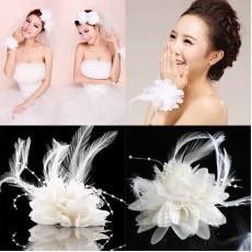 โบว์กิ๊บติดผมหรือเข็มกลัดแฟชั่นเกาหลีสำหรับงานแต่งงานดีไซน์ดอกไม้ นำเข้า สีขาว - พร้อมส่งBE0029 ราคา 99 บาท