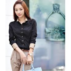 เสื้อเชิ้ต ใส่ทำงานแฟชั่นเกาหลีแบบใหม่สวย นำเข้า - พร้อมส่ง6052 ลดพิเศษ ราคาถูก399บาท [หมดค่ะ]