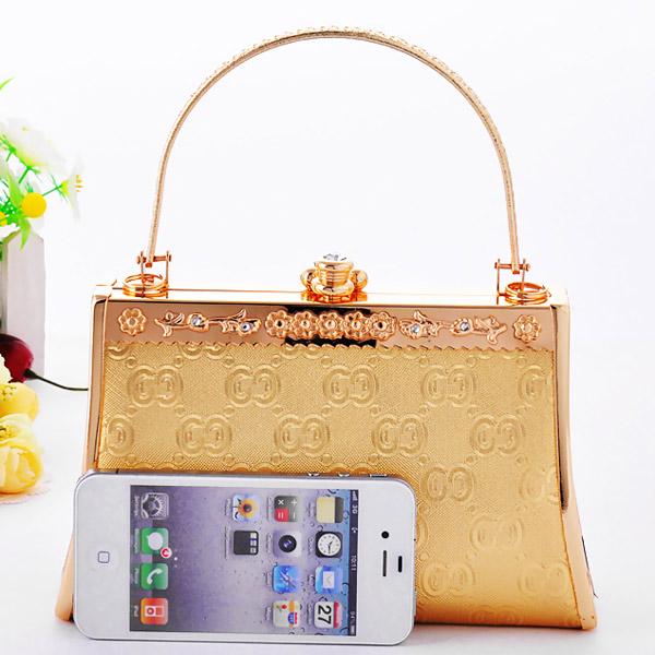 กระเป๋าคลัชออกงาน กระเป๋าถือผู้หญิงแฟชั่นเกาหลีหรูหราเข้าชุดราตรีและงานแต่ง นำเข้า สีทอง - พรีออเดอร์AP2542 ราคา1500บาท