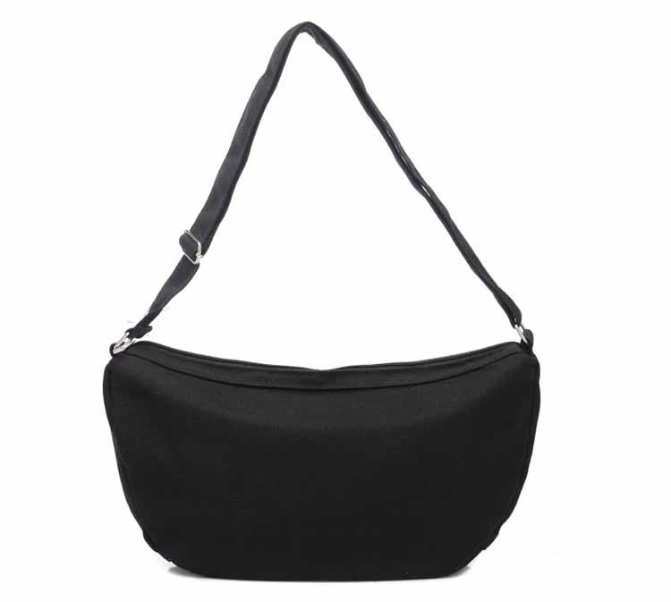 กระเป๋าสะพายข้าง แฟชั่นเกาหลีผ้าคานวาสใบเล็กคาดอกใช้ได้ทั้งชายหญิง นำเข้า สีดำ - พร้อมส่งAP2545 ราคา590บาท
