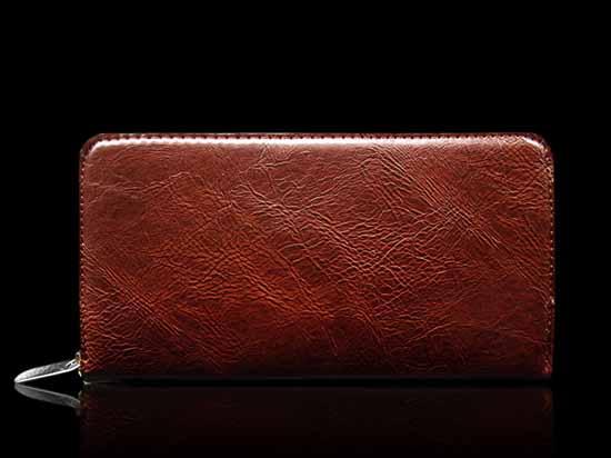 กระเป๋าสตางค์ แฟชั่นเกาหลี ใช้ได้ทั้งชายและหญิงสวยมาก นำเข้า สีน้ำตาล - พร้อมส่ง