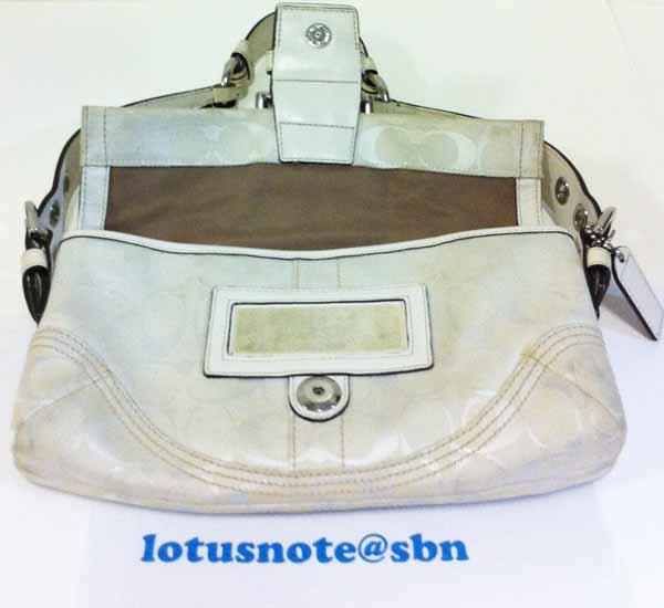 COACH Soho Signature Monogram Canvas & Leather Braided Flap Shoulder Handbag ของแท้มือสองจากอเมริกาพร้อมส่ง ราคา2750บาท