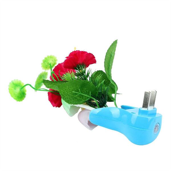 โคมไฟLEDรูปเห็ดดอกไม้แจกันฟ้ามีเซ็นเซอร์เสียบปลั๊กเปลี่ยนสีอัตโนมัติแต่งคอนโดห้องนอนนั่งเล่น พร้อมส่งLED3 ราคา550บาท