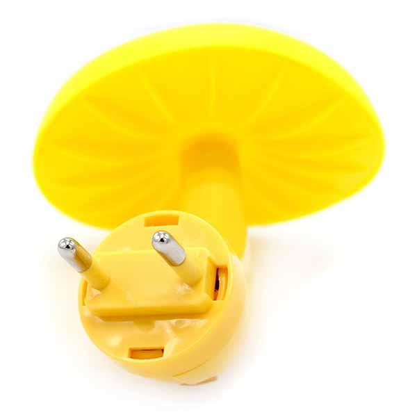 โคมไฟLEDรูปเห็ดดอกใหญ่สีเหลืองมีเซ็นเซอร์เสียบปลั๊กแต่งคอนโดห้องนอนนั่งเล่น พร้อมส่งLED4 ราคา350บาท