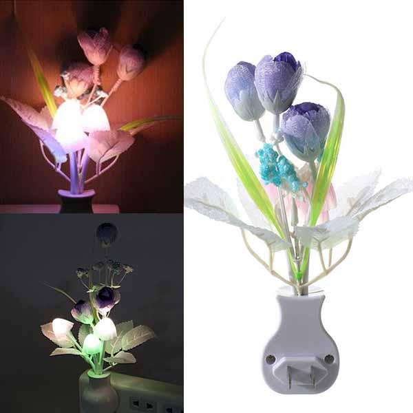 โคมไฟLEDรูปเห็ดดอกไม้มีเซ็นเซอร์เสียบปลั๊กแสงเปลี่ยนสีอัตโนมัติตกแต่งคอนโดห้องนอนนั่งเล่น พร้อมส่งLED6 ราคา590บาท