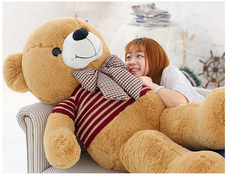 ตุ๊กตาหมีใส่เสื้อ2เมตร ตัวใหญ่อ้วนขนนุ่มแน่น ของขวัญพิเศษหรือใช้ในงานแต่งงาน สีน้ำตาล - พร้อมส่ง ราคา4900บาท