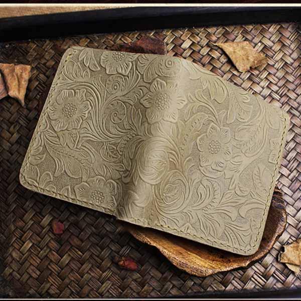 กระเป๋าสตางค์หนังแท้ สไตล์เรโทรแนววินเทจสวยมากหนังแท้แฮนด์เมด นำเข้า - พรีออเดอร์F049 ราคา2500บาท