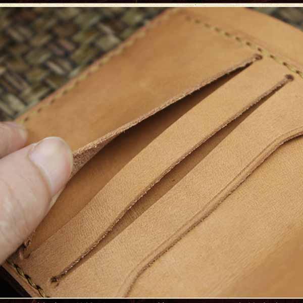 กระเป๋าสตางค์หนังแท้ สไตล์เรโทรแนววินเทจสวยมากหนังแท้แฮนด์เมด นำเข้า สีเทา - พรีออเดอร์F049 ราคา2500บาท