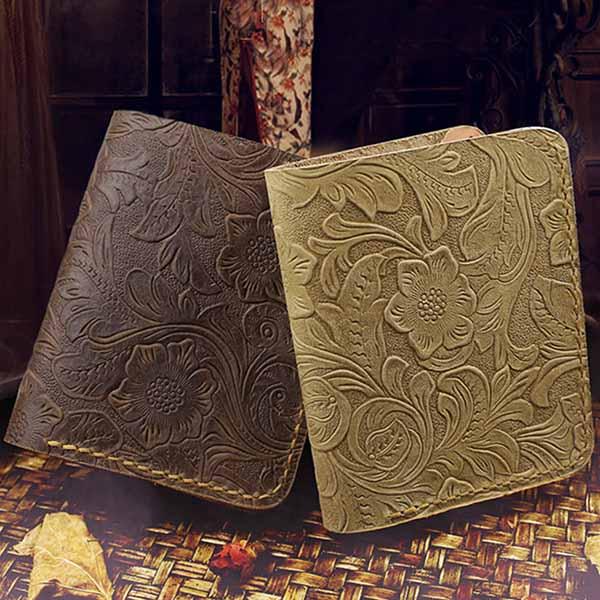 กระเป๋าสตางค์หนังแท้ สไตล์เรโทรแนววินเทจสวยมากหนังแท้แฮนด์เมด นำเข้า พรีออเดอร์F049 ราคา2500บาท