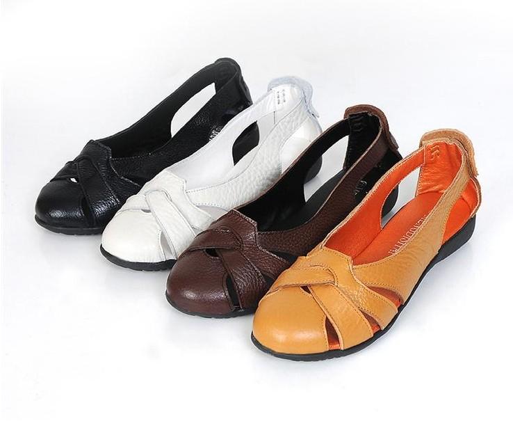 รองเท้าส้นเตี้ย แฟชั่นเกาหลี สวยเทรนแบนใหม่ผสมหนังแท้ใส่สบายมาก นำเข้า พรีออเดอร์HS158-7 ราคา1300บาท