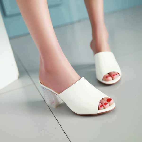 รองเท้าส้นเพชร ออกงานราตรีแต่งงานสไตล์ส้นสูงหรูหราแฟชั่นเกาหลี นำเข้า ไซส์33ถึง43 สีขาว - พรีออเดอร์HS188-2 ราคา2350บาท