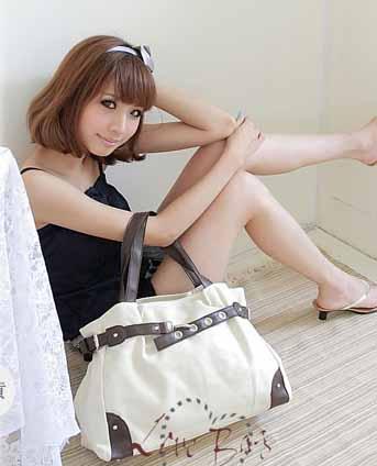 กระเป๋าสะพาย แฟชั่นเกาหลี แบบผ้าคานวาส ใบใหญ่ นำเข้า