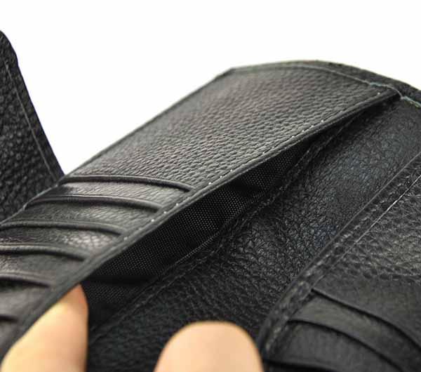 กระเป๋าสตางค์ผู้หญิง ใบยาว2พับหนังแท้แฟชั่นเกาหลี Gunuine Leather Wallet นำเข้า สีดำ - พร้อมส่งIS1037 ราคา1050บาท