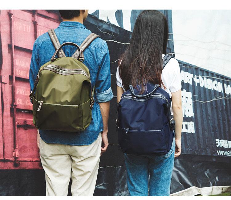 กระเป๋าเป้สะพายหลังผ้าไนลอน แฟชั่นเกาหลีเดินทางท่องเที่ยวมี2ไซส์ชายหญิง นำเข้า - พรีออเดอร์IS1050 ราคา1890บาท