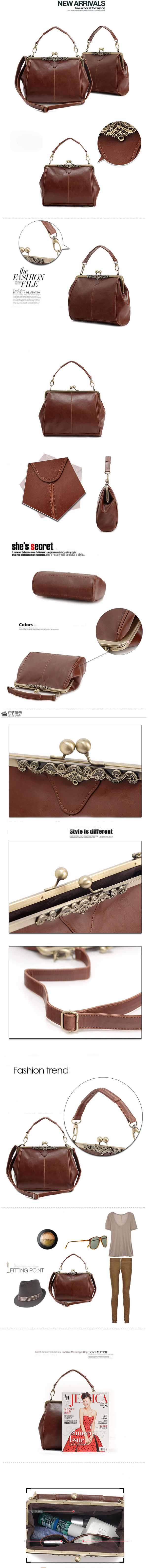 กระเป๋าสะพาย แฟชั่นเกาหลีแนววินเทจRetroถือสายสั้นหรูแบบใหม่น่ารัก นำเข้า สีกาแฟ - พร้อมส่งIS505 ราคา850บาท