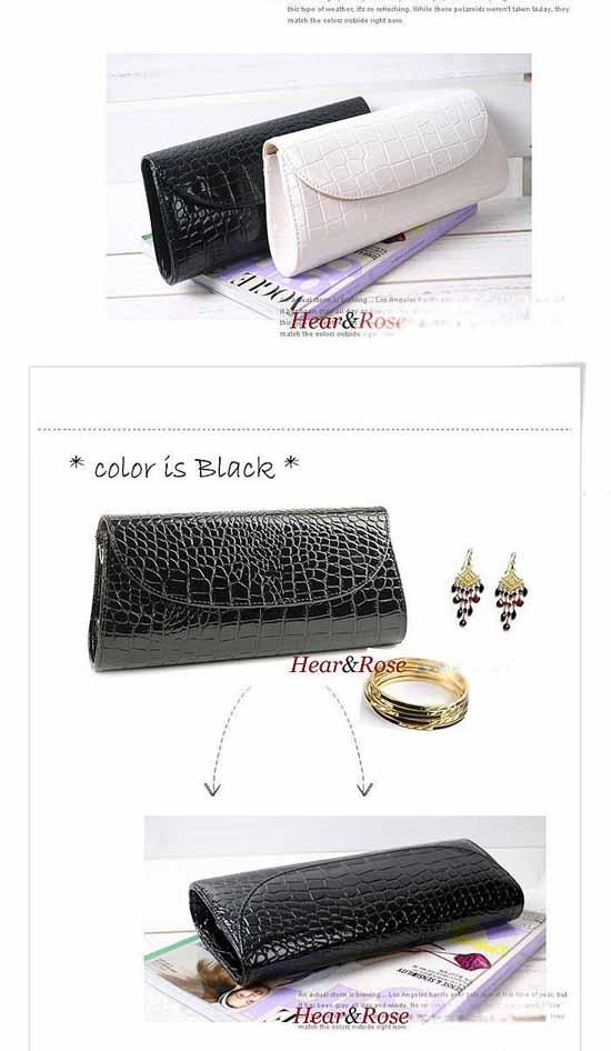 กระเป๋าคลัชแฟชั่นเกาหลีถือสวยหรูใช้ออกงาน นำเข้า สีดำ พร้อมส่งIS954