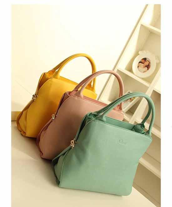 กระเป๋าผู้หญิง แฟชั่นเกาหลีสวยใช้ได้2ทรง นำเข้า สีชมพู
