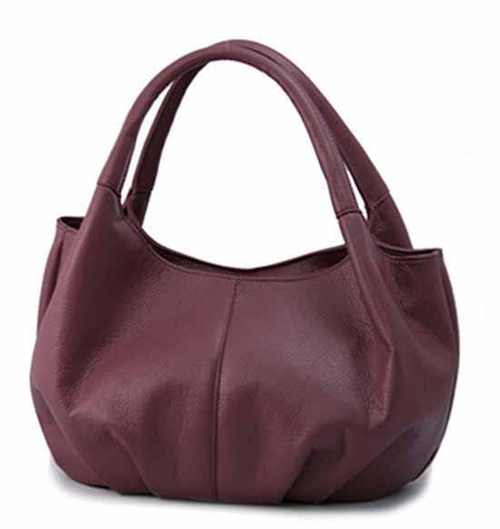 กระเป๋าถือ แฟชั่นเกาหลีหนังดีช่องเยอะน้ำหนักเบา นำเข้า สีม่วง - พร้อมส่ง