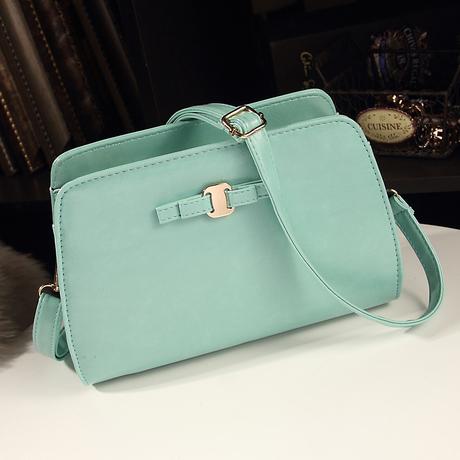 กระเป๋าสะพายข้าง แฟชั่นเกาหลีมีซิปปิดใช้ออกงานสวยน่ารัก นำเข้า พรีออเดอร์IS984
