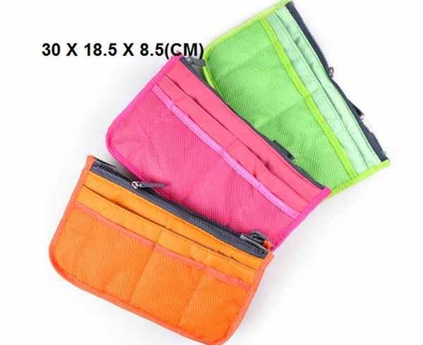 กระเป๋าจัดระเบียบ ช่องเยอะถือได้สไตล์แฟชั่นเกาหลีรุ่นใหม่ นำเข้า พร้อมส่งIS996 ราคา350บาท