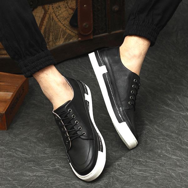 รองเท้าหนังผู้ชาย แฟชั่นเกาหลีloaferลำลองมีเชือก นำเข้า ไซส์39ถึง43 สีดำ - พรีออเดอร์MA5600 ราคา2500บาท