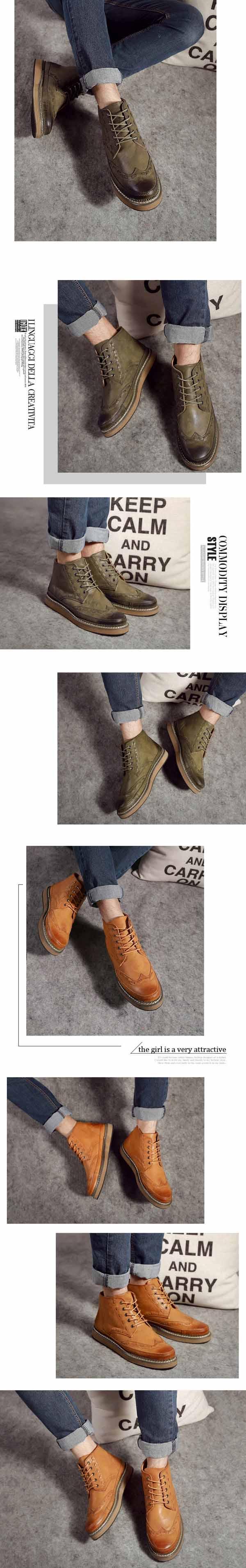 รองเท้าบู๊ทผู้ชาย หุ้มข้อหนังลำลองแฟชั่นเกาหลีสไตล์มาร์ติน นำเข้า ไซส์39ถึง44 - พรีออเดอร์MA5606 ราคา2900บาท