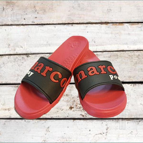 รองเท้าแตะส้นหนา แฟชั่นเกาหลีสวมใส่สบาย นำเข้า ไซส์38 สีแดงคาดดำ - พร้อมส่งMA5613 ลดราคา99บาท