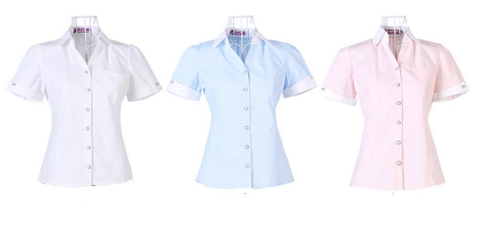 เสื้อเชิ้ต ทำงาน แฟชั่นเกาหลี ใหม่สวยแขนสั้นฟอร์มพนักงาน นำเข้า ไซส์S/M/L/XL พรีออเดอร์MI519 ราคา880บาท