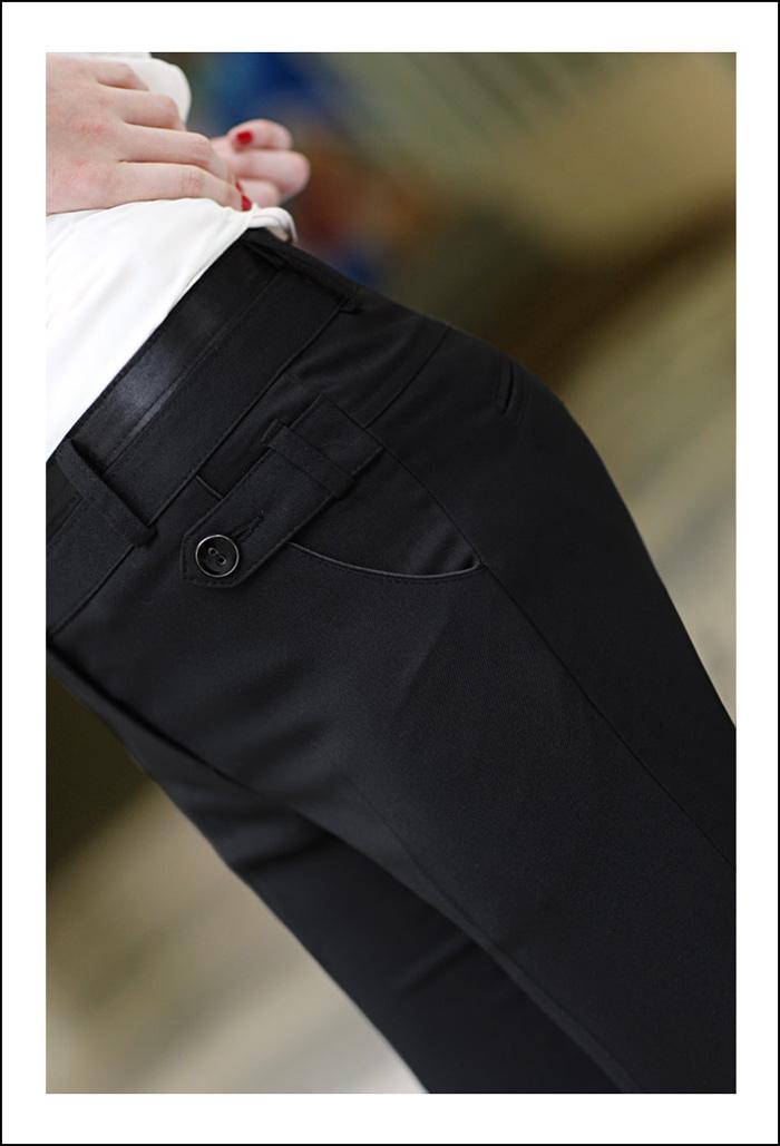 กางเกง ทำงาน แฟชั่นเกาหลี ฟอร์มพนักงาน นำเข้า ไซส์S/M/L/XL สีดำ - พรีออเดอร์MI523 ราคา925บาท