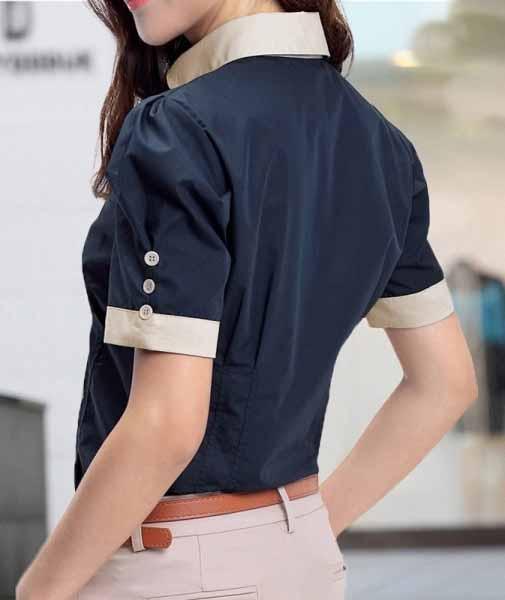 เสื้อเชิ้ตแขนสั้นทำงานชุดฟอร์มพนักงานบริษัทราคาส่ง นำเข้า ไซส์Sถึง2XL สีน้ำเงิน - พรีออเดอร์MI530 ราคา 550 บาท