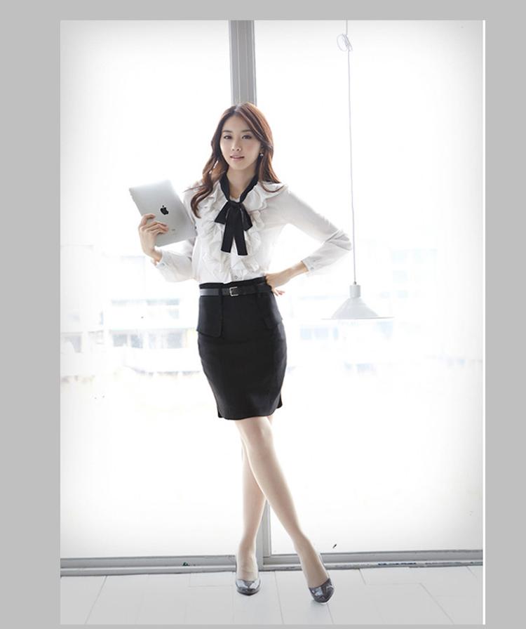 กระโปรง ทำงาน แฟชั่นเกาหลี ฟอร์มพนักงานออฟฟิต นำเข้า ไซส์S/M/L/XL พรีออเดอร์MI590 ราคา1090บาท