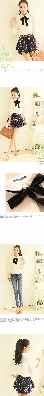 เสื้อเชิ้ตทำงานแขนยาวคอผูกโบว์ดำชุดฟอร์มพนักงานบริษัท นำเข้า ไซส์Sถึง2XL สีขาว - พรีออเดอร์MI614 ราคา990บาท