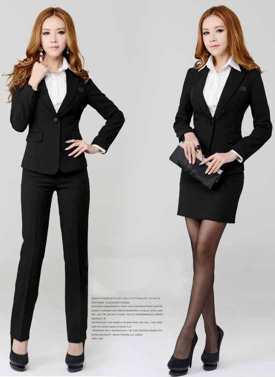 ชุดสูทกางเกง แฟชั่นเกาหลียูนิฟอร์มสูท+กางเกง+เชิ้ต นำเข้า สีดำ พรีออเดอร์MS4001