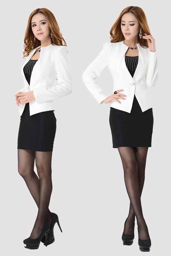 เสื้อสูท แฟชั่นเกาหลีเป็นชุดทำงานสวยหรูแบบพนักงาน นำเข้าไซส์Sถึง3XL