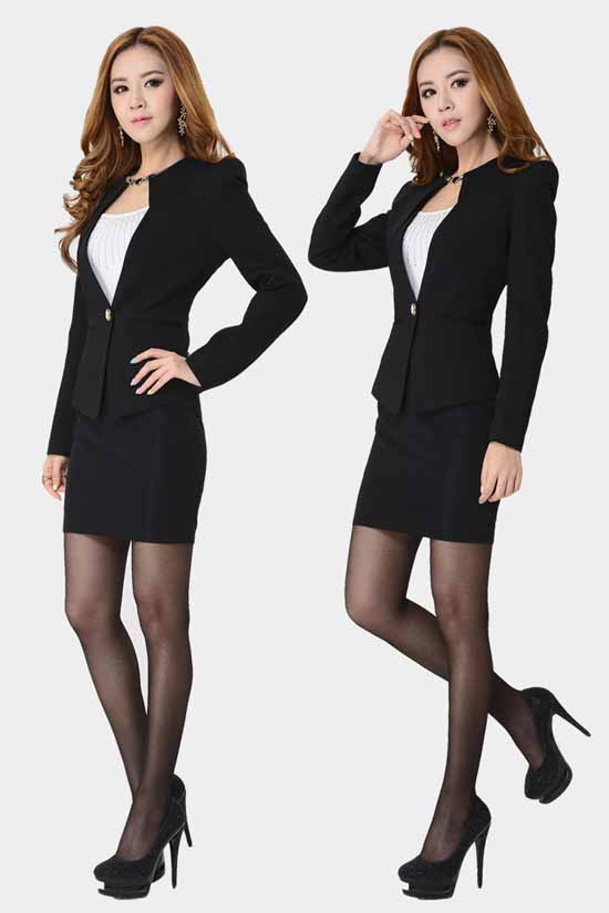 เสื้อสูท แฟชั่นเกาหลีเป็นชุดทำงานสวยหรูแบบพนักงาน นำเข้าไซส์Sถึง3XL สีดำ