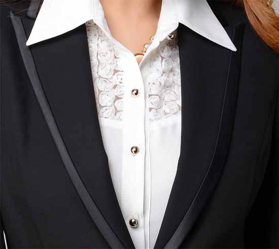 เสื้อสูท แฟชั่นเกาหลีจับจีบหลังสวยหรูแบบใหม่ นำเข้าไซส์Sถึง3XL