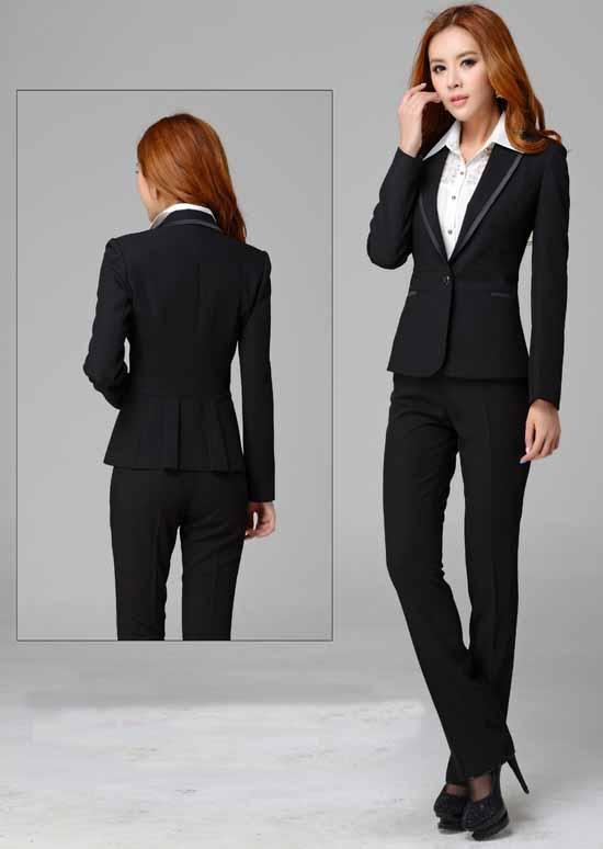 เสื้อสูท แฟชั่นเกาหลีจับจีบหลังสวยหรูแบบใหม่ นำเข้าไซส์Sถึง3XLสีดำ
