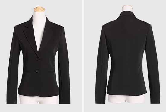 เสื้อสูท แฟชั่นเกาหลีแบบกระดุม2เม็ดคอวีแขนยาวสวยใหม่ นำเข้าไซส์Sถึง3XL