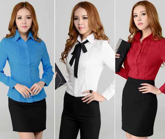 เสื้อเชิ้ต แฟชั่นเกาหลีแขนยาวตีเกล็ดสวยใหม่ นำเข้าไซส์Sถึง3XL