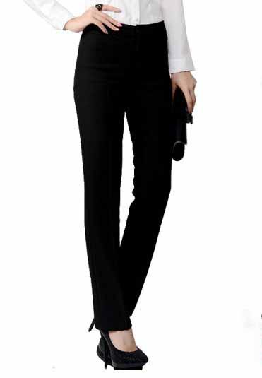 กางเกง แฟชั่นเกาหลีผู้หญิงใส่ทำงานสวย นำเข้าไซส์Sถึง3XL สีดำ